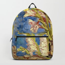 Vase With Gladioli And China Asters - Digital Remastered Edition Backpack