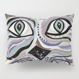 Denim Cat Pillow Sham