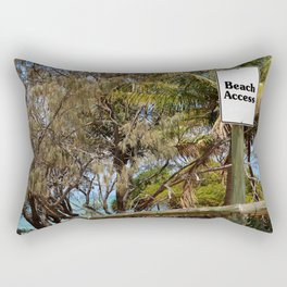 Show me the way to the beach Rectangular Pillow