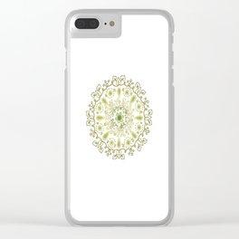 Vegetal Mandala green Clear iPhone Case