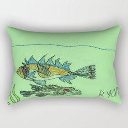 Foxface & Fugu Fish Rectangular Pillow