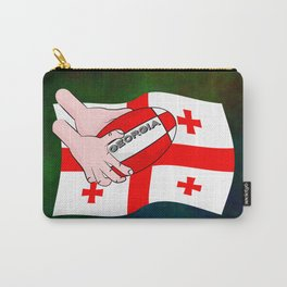 Rugby Georgia Flag Carry-All Pouch