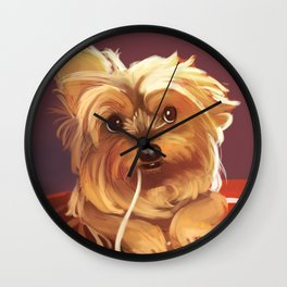 Trufa The Yorkie Wall Clock