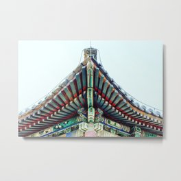 Chinese Style Roof, Triangle Metal Print