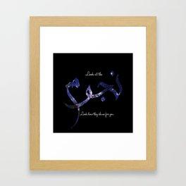Stars - Arabic Typography Framed Art Print
