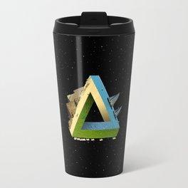 Impossible earth (penrose triangle) Travel Mug