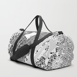 New York building city map Duffle Bag