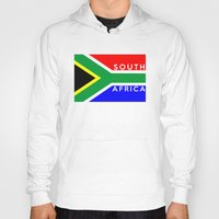 south africa Hoodies featuring South Africa country flag name text by tony tudor