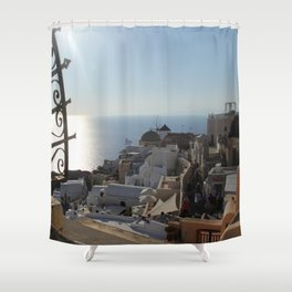 The Village of Oia Shower Curtain