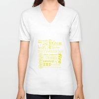 gryffindor V-neck T-shirts featuring Gryffindor by husavendaczek