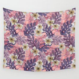 Antique Pink Hibiscus Pattern Wall Tapestry