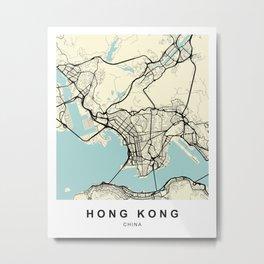 Hong Kong China Vietnam City Map Metal Print