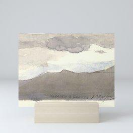 Mahadeo Mountains with Clouds  Mini Art Print