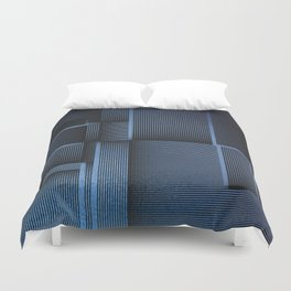 Rhythm of Rectangles and Blues Duvet Cover