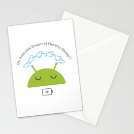 Androids and sheep Stationery Cards