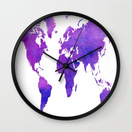 Purple Map Wall Clock