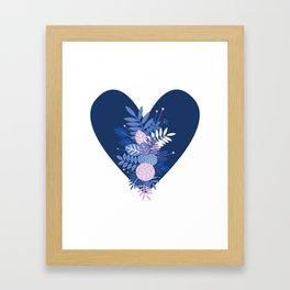 Feelings (Blue) Framed Art Print