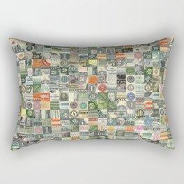 Money Montage Rectangular Pillow