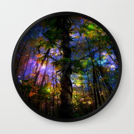 Forest of the Fairies Night Wall Clock