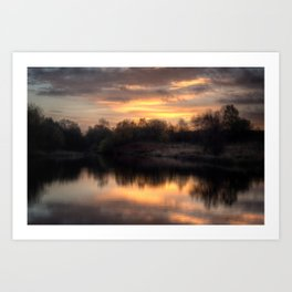 Chasewater Sunrise Art Print