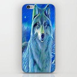 BLUE WOLF iPhone Skin