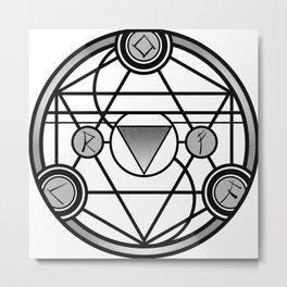Transmutation Circle Metal Print