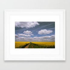 Clouds and Flowers Framed Art Print