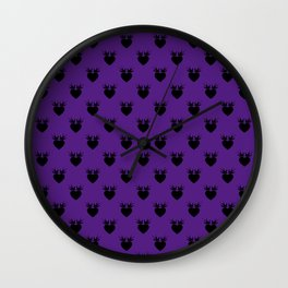 Purple - Hearts and Love Birds Wall Clock