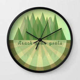Reach clearly your goals  Wall Clock
