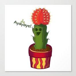 Ayayaye Cactus Rasta Canvas Print