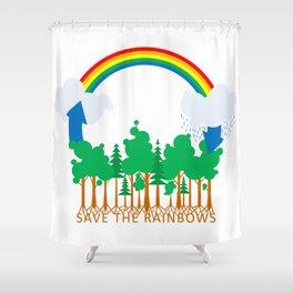 Save the Rainbows Shower Curtain