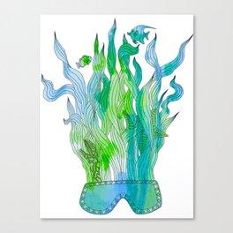 Psychedelic underwater snorkelling mask landscape Canvas Print