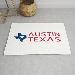Texas: Austin (State Shape & Star) Rug
