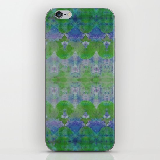 Watercolour Tribal Green iPhone & iPod Skin