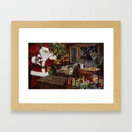 Snappy Santa Framed Art Print