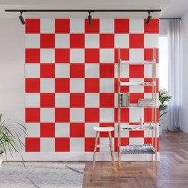 Checker (Red/White) Wall Mural