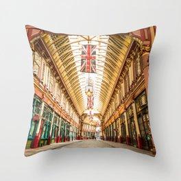 Leadenhall Market, London Throw Pillow