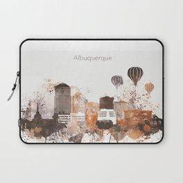 Brown Albuquerque skyline design Laptop Sleeve