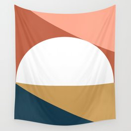 Mid Century Modern Sunset Nº1 Wall Tapestry