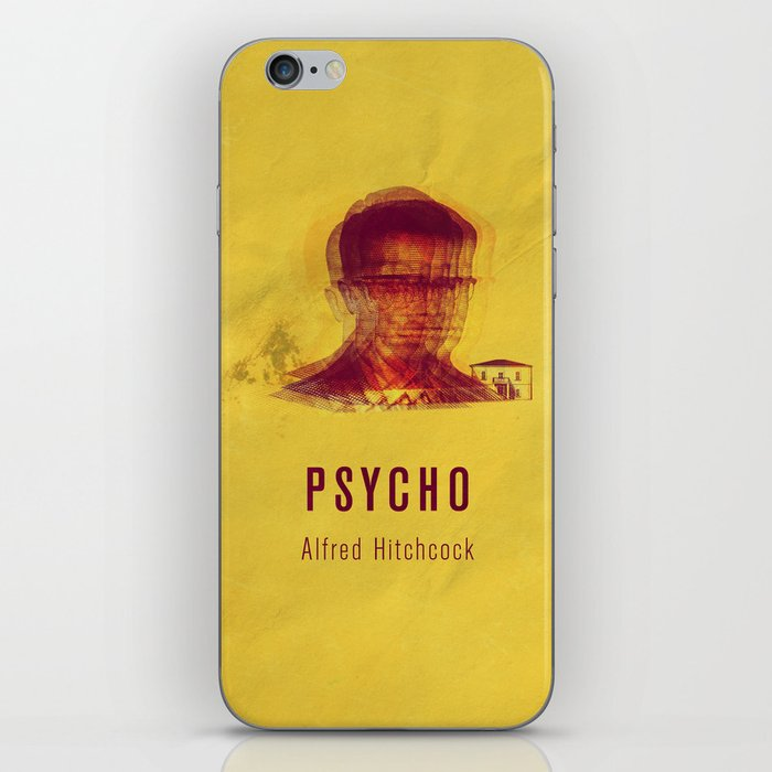 PSYCO - Hitchcok Poster iPhone Skin