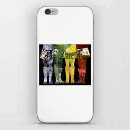 Four Seasons of Wellies iPhone Skin