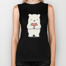 Kawaii Cute Polar Bear Biker Tank