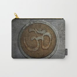 The sound of the Universe. Gold Ohm Sign On Stone Carry-All Pouch