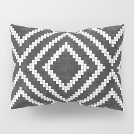 Loom in Black and White Pillow Sham