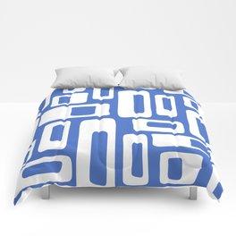 Retro Mid Century Modern Abstract Pattern 335 Blue Comforters