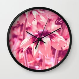 Flower Pink 0144 Wall Clock