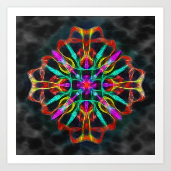 Vibrant shield decoration Art Print