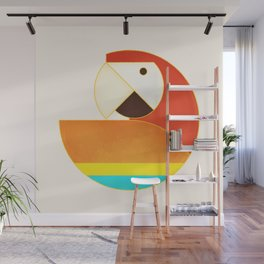 Round Bird - Macaw Wall Mural