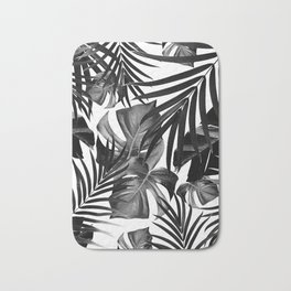 Tropical Jungle Leaves Pattern #10 #tropical #decor #art #society6 Bath Mat