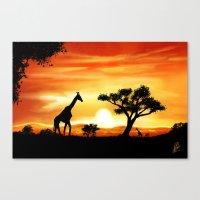 africa Canvas Prints featuring Africa by Richard Eijkenbroek